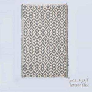 0-Arabesk-Tapis-Zarbia-Carpet-gris-coton-cotton-artisanat-artisanatex-tunisie-tunisia