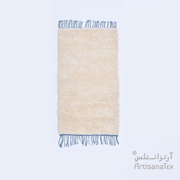 0-Camomille-Frange-Bleu-zarbia-tapis-Descente-de-lit-Rug-carpet-laine-sheep-wool-artisanat-artisanatex-handmade-craft-tunisie-tunisia-