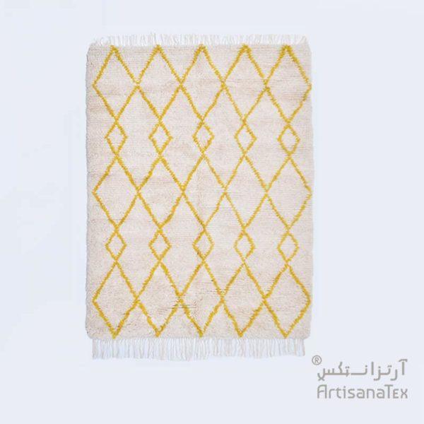 0-Opale-Zarbia-Tapis-carpet-Jaune-laine-sheep-wool-artisanat-artisanatex-handmade-craft-tunisie-tunisia
