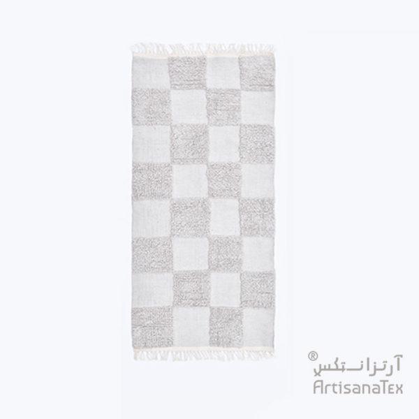 Patchi-Gris-zarbia-tapis-Descente-de-lit-Rug-carpet-laine-artisanatex-handmade-craft-tunisie-tunisia-artisanat