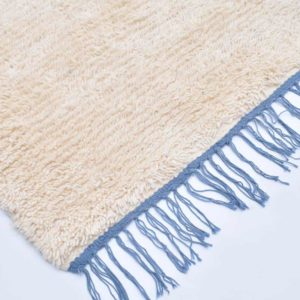 1-Camomille-Frange-Bleu-zarbia-tapis-Descente-de-lit-Rug-carpet-laine-sheep-wool-artisanat-artisanatex-handmade-craft-tunisie-tunisia-
