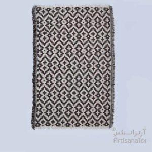 3-Arabesk-Tapis-Zarbia-Carpet-marron-coton-cotton-artisanat-artisanatex-tunisie-tunisia