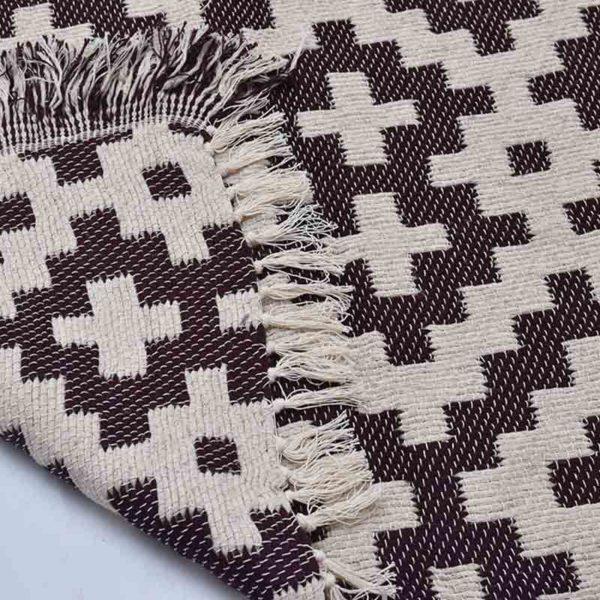 5-Arabesk-Tapis-Zarbia-Carpet-marron-coton-cotton-artisanat-artisanatex-tunisie-tunisia